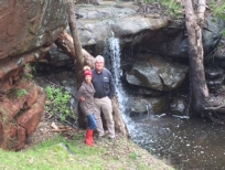 Us at waterfall